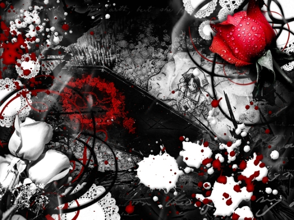 Safran Troublant Red Rose Girl LayoutSparks