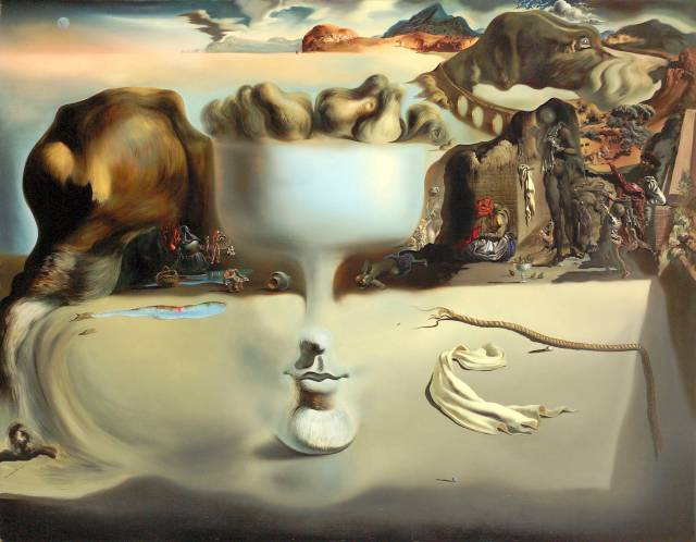 Salvador Dali-Apparition of a Face and Fruit Dish on a Beach, 1938 ArtHistory