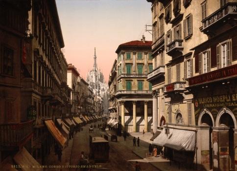 Milano Caffe Corso Vittorio Emanuele 1890s WikiMedia