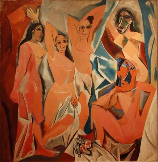 Rouge Avignon Les demoiselles d'Avignon, Pablo Picasso Gautier Poupeau Flickr