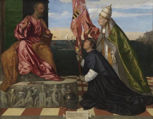 Rouge Avignon Phaedon Jacopo_Pesaro_presented_St._Peter_Pope_Alexander_VI_-_Tizian WikiMediaJ